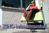 Foto zu Blogeintrag Igno beim Sonnenbad!